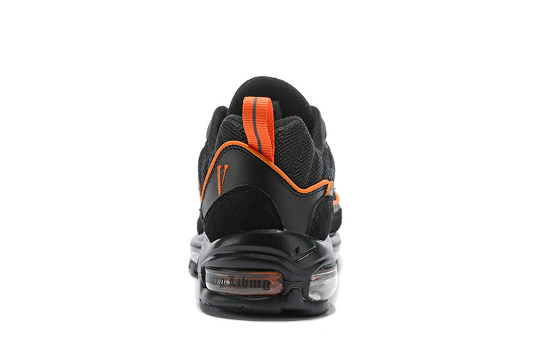 on sale 772ef a0acb Nike Air Max 98 Black Orange Men's Running Shoes NIKE-ST003270
