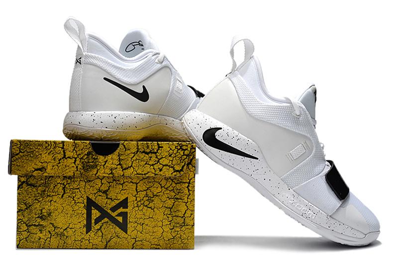 new styles d1ebf 3bcb3 Nike Paul George PG 2. 5 White Black Men's Basketball Shoes NIKE-ST002856
