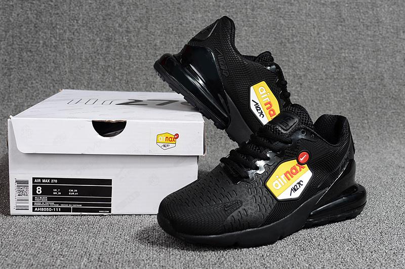 online store 6ec94 072e9 Nike Air Max 270 Kpu Triple Black AH8050 111 Men's Running Shoes AH8050-111