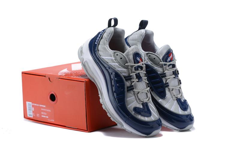 Supreme x Nike Air Max 98 Obsidian Reflective Silver White 844694 400 ... 1683b89e8
