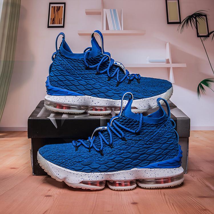 new products c973c 8278e Nike Lebron 15 Photo Blue Total Orange Summit White 897648 400 Men's  Basketball Shoes 897648-400