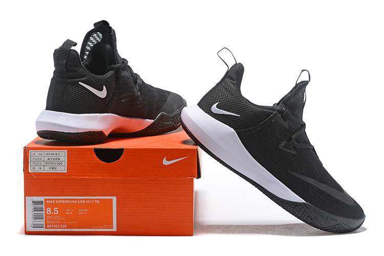 huge discount c8399 aa45f Nike Hyperdunk Low 2018 Black White Men's Basketball Shoes NIKE-ST002850