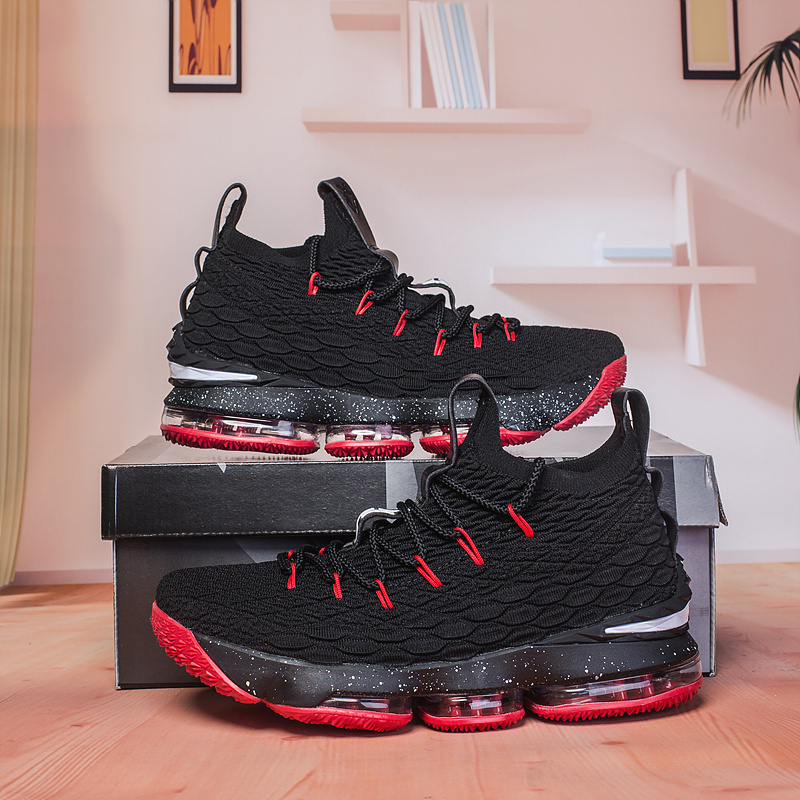 huge discount 620a0 f839b Nike Lebron 15 XV Black Red Men's Basketball Shoes NIKE-ST002985