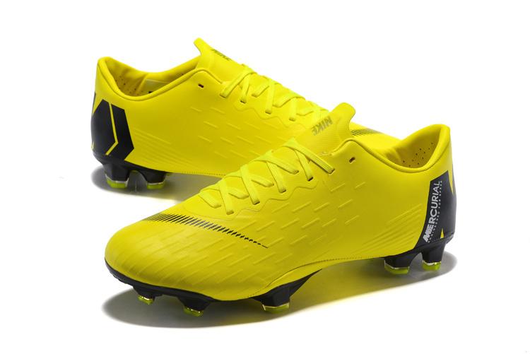 san francisco f683e acdaf Nike Mercurial Vapor XII Pro FG Cleats Yellow Black Men's Soccer Cleat  Shoes NIKE-ST003415