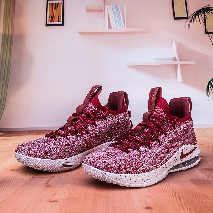 16056c5a1a6 Nike Lebron James 15 XV Low Taupe Grey Team Red Vast Grey AO1755 200 Men s  Basketball