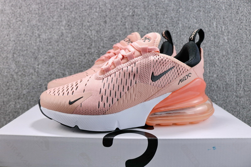 best service 6f326 4d487 Nike Air Max 270 Flyknit Coral Stardust Black AH6789 600 Women's Casual  Shoes AH6789-600