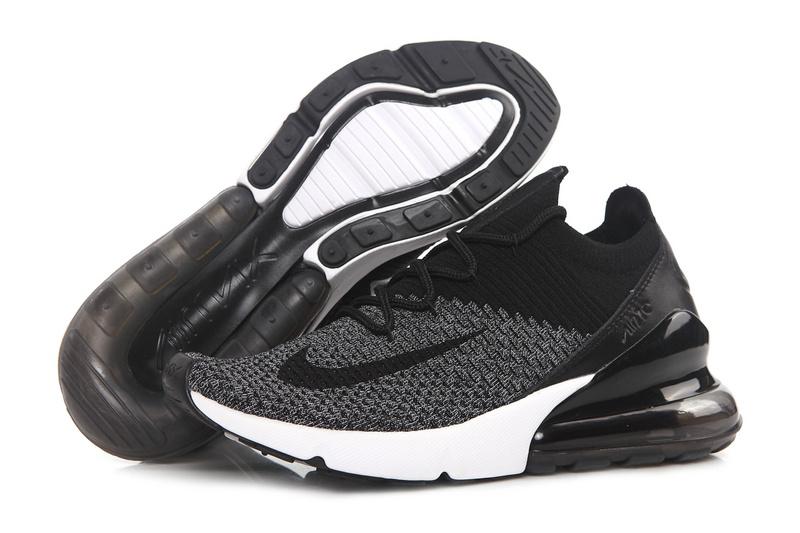 promo code 5ff84 936d1 Nike Air Max 270 Flyknit Dark Grey Black White AO1023 001 Men s ...