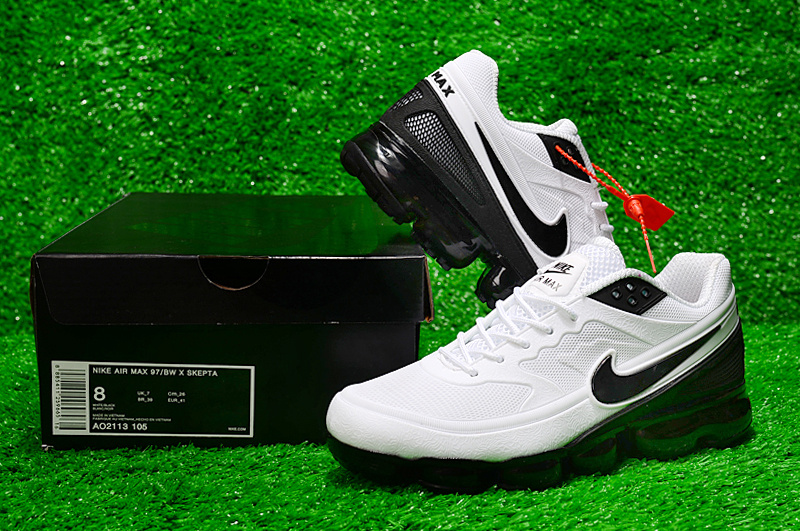 401ee9a9872 Nike Air Max 97 Bw Skepta Kpu White Black AO2113 105 Men s Casual ...