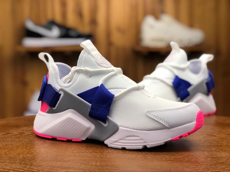 85472c583d0 Nike Air Huarache City Low White Concord Laser Pink Wolf Grey AH6804 101  Women s Casual Shoes