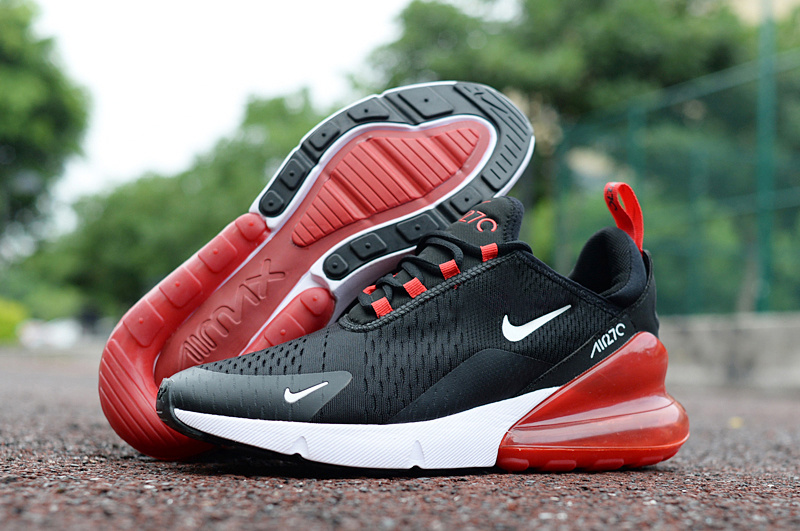 buy popular c9a78 73efa Nike Air Max 270 Black Red White Men's Casual Shoes NIKE-ST002963