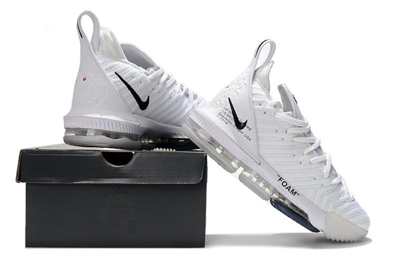 74176bc2263db0 Nike LeBron 16 Off White Black Men s Basketball Shoes NIKE-ST003156 ...
