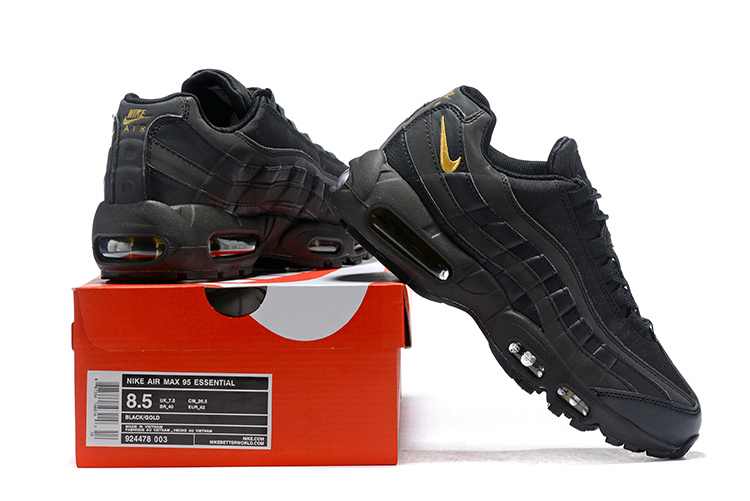 a2e3ea3fb3 Nike Air Max 95 Black Gold 924478 003 Men's Casual Shoes 924478-003A ...