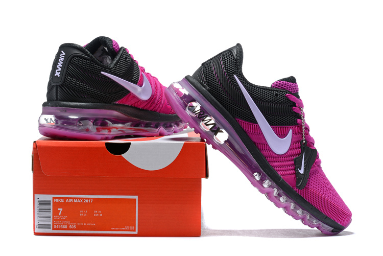 finest selection 3f5df fd4c8 Nike Air Max 2017 KPU Dark Purple Black White 849560 505 Women's Running  Shoes 849560-505