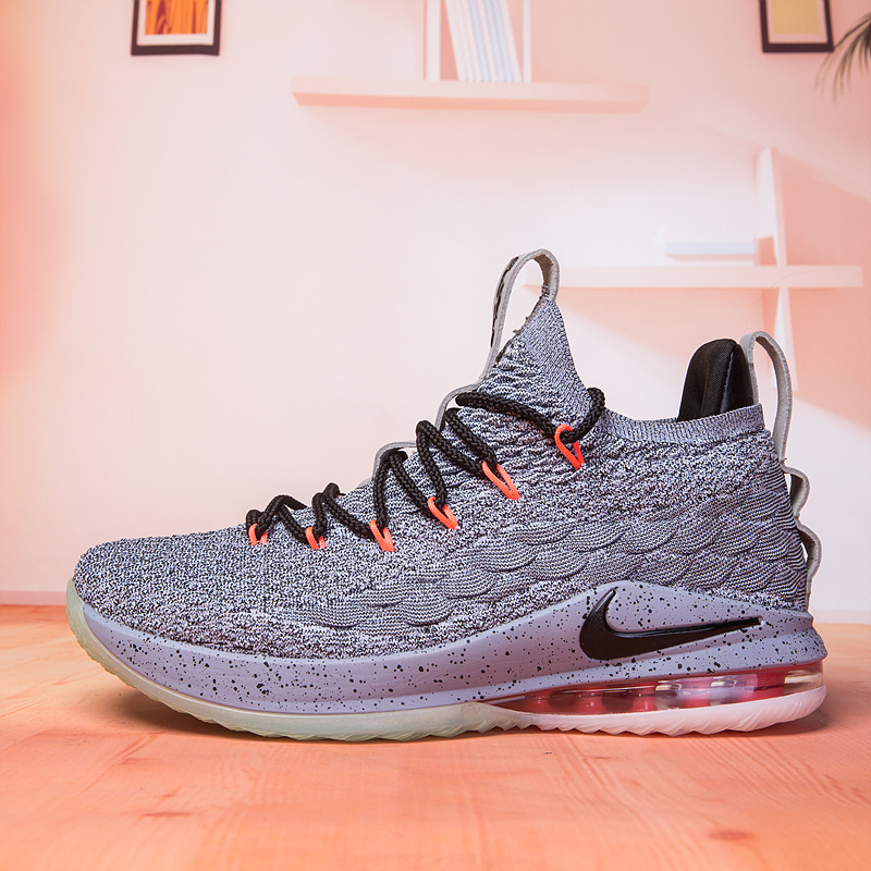 a6ac792c5da Nike Lebron XV 15 Low Wolf Grey Black Men s Basketball Shoes NIKE ...