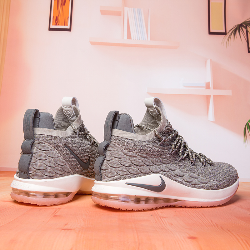 save off 0c064 49a86 Nike Lebron XV 15 Low Light Bone Dark Stucco Sail Coral Stardust Men's  Basketball Shoes NIKE-ST003210