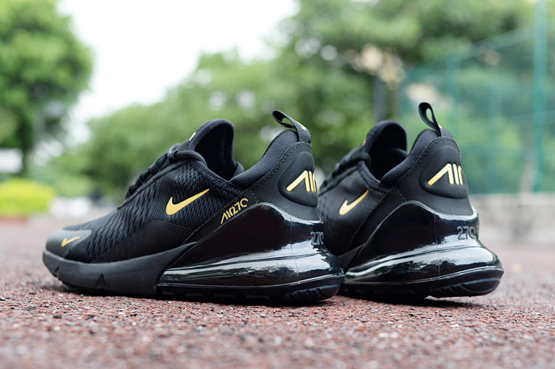 new arrival 9d5c5 c3e9b Nike Air Max 270 Black Gold Men's Casual Shoes NIKE-ST002967