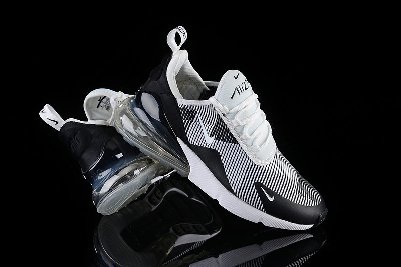 new arrivals 736d5 f57eb Nike Air Max 270 Stripe Wolf Grey Black White Men's Casual Shoes  NIKE-ST003073