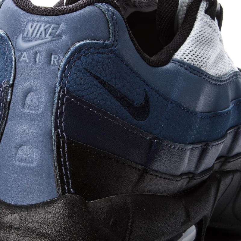 super popular 76779 0f4ad Nike Air Max 95 Essential Black Obsidian White 749766 028 Mens Casual Shoes