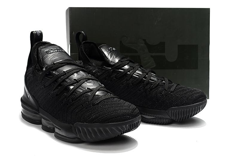 reputable site 42d0d 745fa Nike LeBron 16 Black Charcoal Gray Men's Basketball Shoes NIKE-ST003158