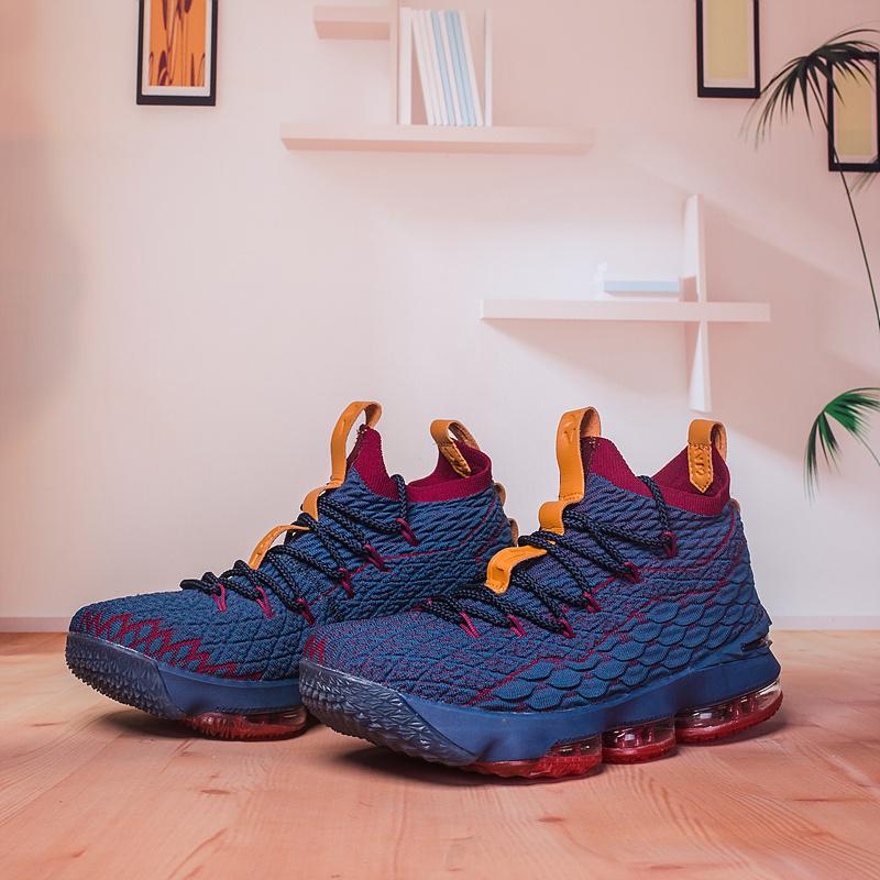 7f3b4608bd0 Nike Lebron 15 XV Navy Blue Red Men s Basketball Shoes NIKE-ST002988 ...