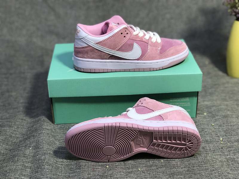 buy popular 3b128 a1034 Nike SB Dunk Low Pro Pink White Women's Casual Shoes Sneakers NIKE-ST003450