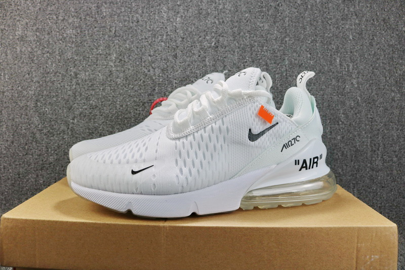 3eb3040007e OFF-WHITE x Nike Air Max 270 Flyknit Whtie Black AH8050 100 Women s ...