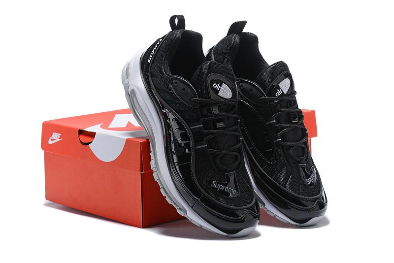 789594dd78 Supreme Nike Air Max 98 Black White Men's Running Shoes NIKE ...