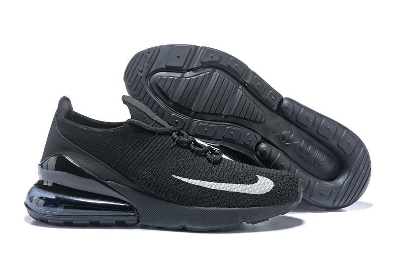 89ae5d5b70 Nike Air Max 270 Flyknit Black White Women's Men's Casual Shoes NIKE ...
