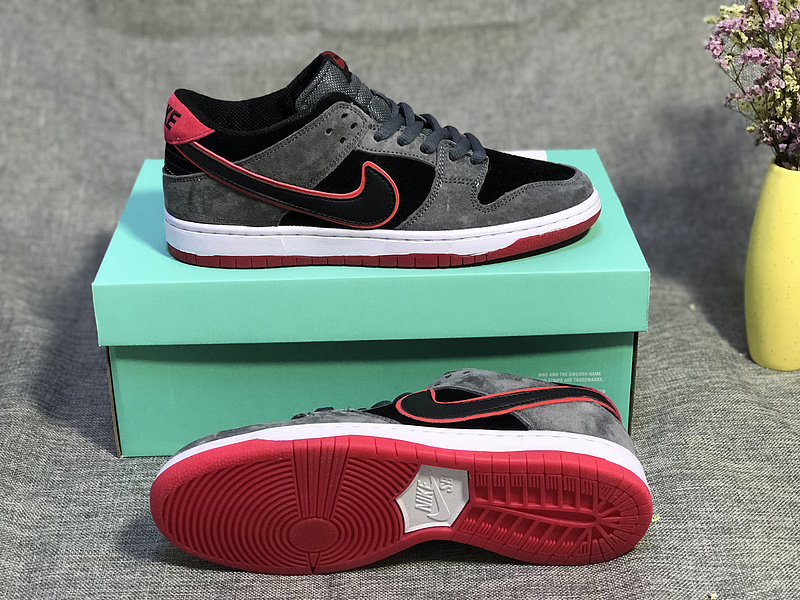 more photos 60bb3 cc2a3 Nike SB Dunk Low Black Dark Grey Pink White Women's Men's Casual Shoes  Sneakers NIKE-ST003451