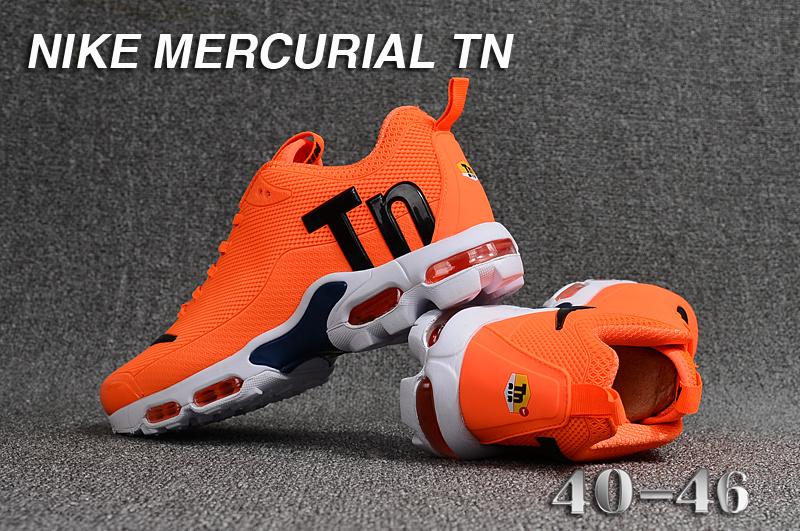 6a2a1eff2 Mens Nike Mercurial TN KPU Orange Black White Running Shoes NIKE ...