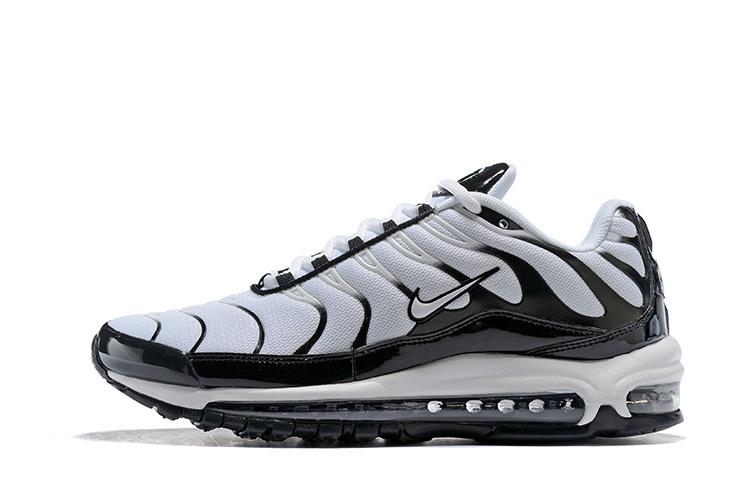 Men's Nike Air Max Plus TN 97 White Black Casual Shoes Sneakers NIKE ST003470