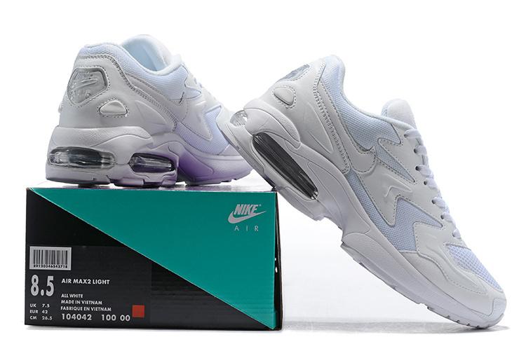 3b13229290a2d8 Men s Nike Air Max2 Light Triple White 104042 100 Casual Shoes ...
