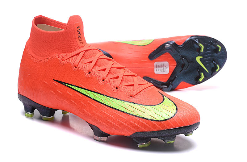 premium selection 396a9 e16c3 Nike Mercurial Superfly VI Elite FG Flyknit 360 Orange Green Black Men's  Soccer Cleat Shoes NIKE-ST003061