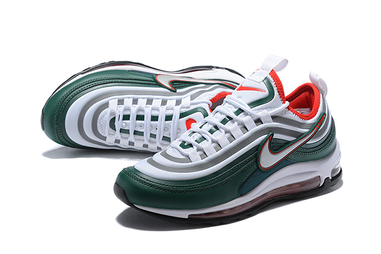 super popular 95564 f0c3f Men s Nike Air Max 97 Ultra 17 SE Green Silver Red White 924452 022 Casual  Shoes