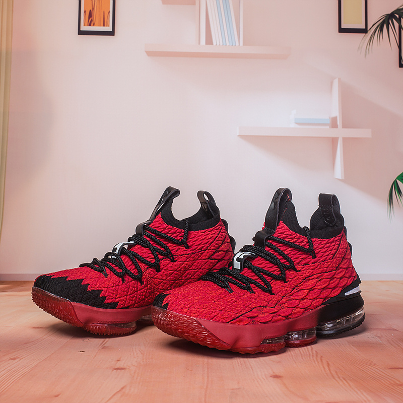 73c6f06ef54 Nike Lebron 15 XV Bright Red Multi-Color Black Men s Basketball Shoes
