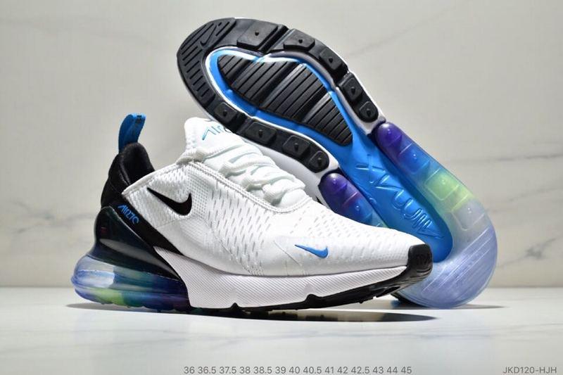 best service aeb62 ff70f Nike Air Max 270 Betrue White Black Spectrum Blue AH8050 022 Women's Men's  Casual Shoes AH8050-022