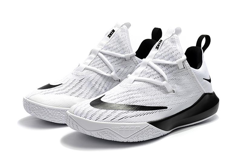 64e99b932db Nike Zoom Shift EP 2 White Black Men s Basketball Shoes NIKE ...