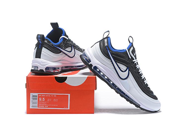 c593b35b3e ... Men s Nike Air Max 97 Ultra 17 SE Black Whtie Blue 924452 024 Casual