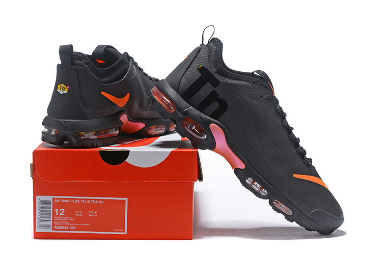 Zero Defect Nike Air Max Plus Mercurial TN Ultra SE Tuned Black Orange AQ0242 001 Womens Mens Running Shoes AQ0242 001