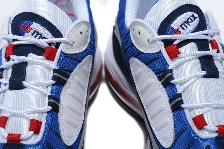 263b0d7cb9 Nike Air Max 98 OG Gundam White University Red Obsidian 640744 100 Men's  Running Shoes