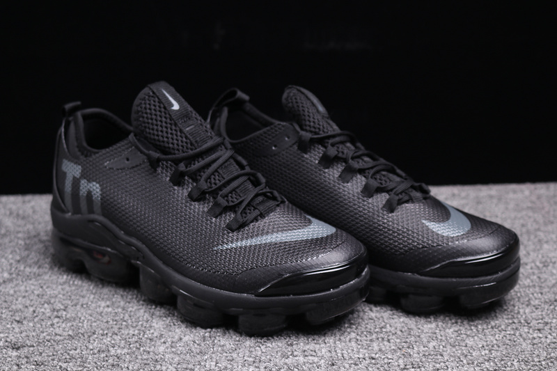 Nike VaporMax Air Max Plus Tn Triple Black Men s Running Shoes NIKE ... 61d7d0ba7