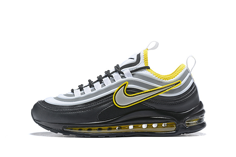 Men's Nike Air Max 97 Ultra 17 SE Black Yellow Grey White 924452 023 Casual Shoes Sneakers 924452 023