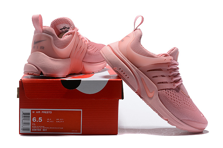 on sale c3c62 5ca0e Nike Air Presto Triple Baby Pink 836183 601 Women's Running Shoes 836183-601