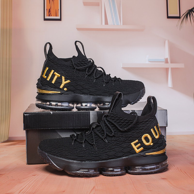 382264b7afc9 Nike Lebron 15 XV Black Gold Men s Basketball Shoes NIKE-ST003002 ...