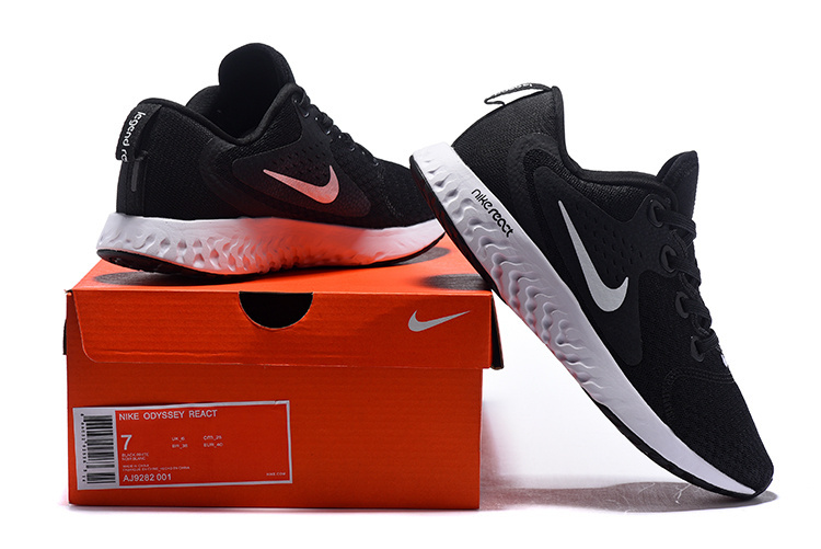be8a731a33aa8 Nike Odyssey React Black Wolf Grey Dark Grey White AO9819 001 Men s ...
