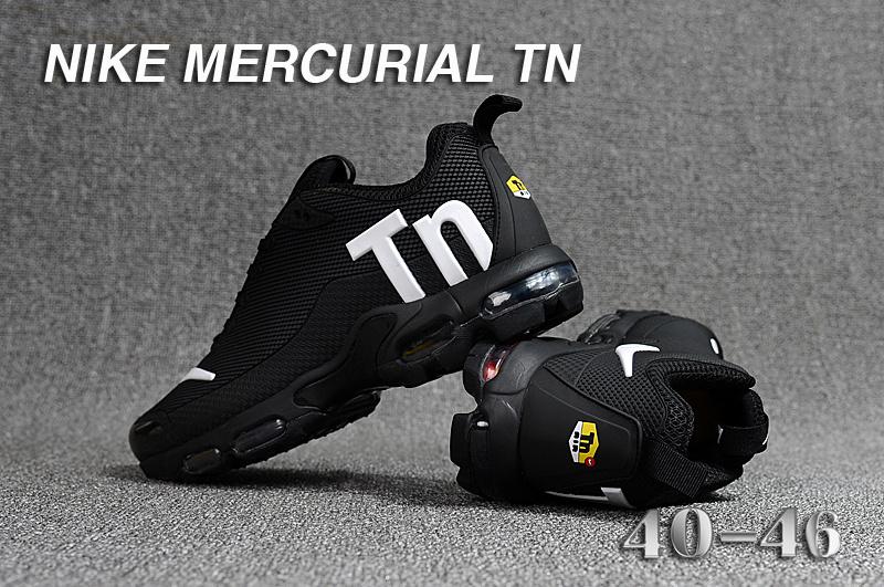 5116679100f3 Mens Nike Mercurial TN KPU Black White Running Shoes NIKE-ST003392 ...
