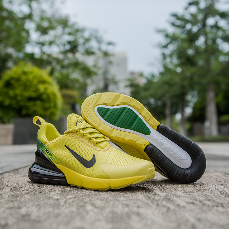 wholesale dealer eab8c 7f5f6 Nike Air Max 270 World Cup Yellow Green Black Men's Casual Shoes  NIKE-ST002956