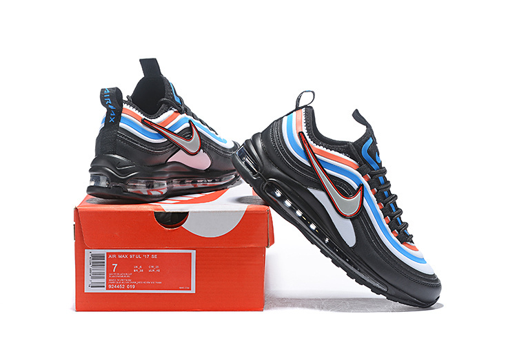 new product 129ee 3594a Men's Nike Air Max 97 Ultra 17 SE Black Blue Orange Silver 924452 ...