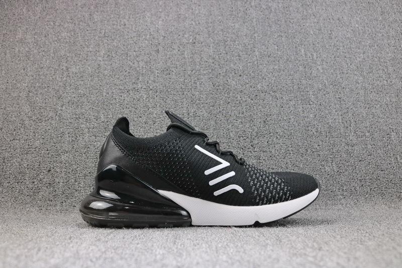Nike Air Max 270 Flyknit White Black AH8050 015 Men s Casual Shoes ... 4f0dd1e80