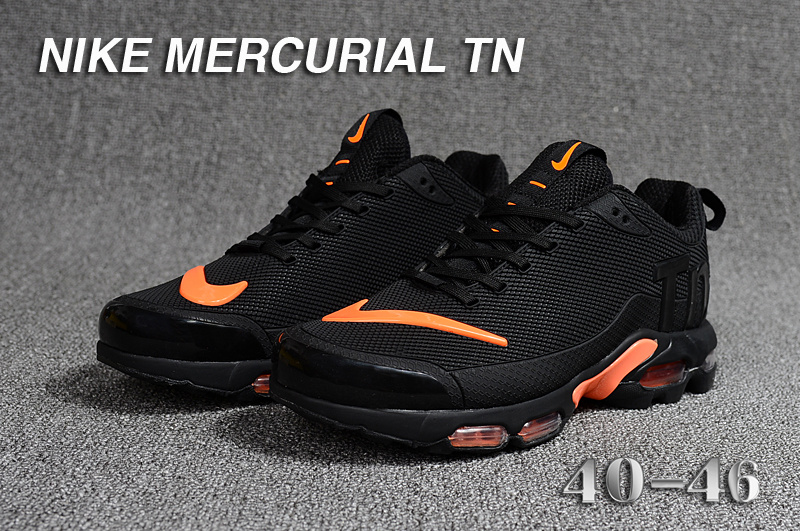 1124697256 Mens Nike Mercurial TN KPU Black Orange Running Shoes NIKE-ST003395 ...